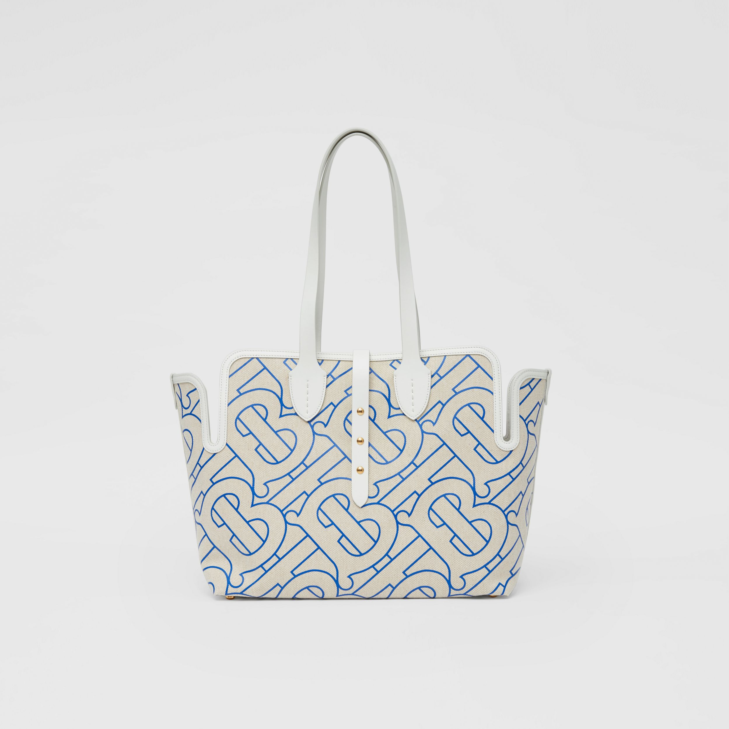 Sac The Belt moyen en toile de coton douce (Naturel/bleu) | Burberry Canada - 1