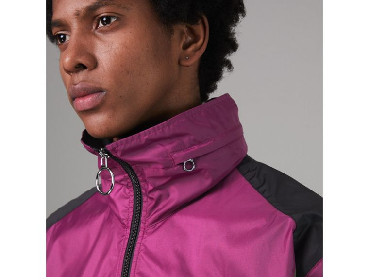 Packaway Hood Colour Block Lightweight Jacket in Regency Purple - Men | Burberry - cell image 4