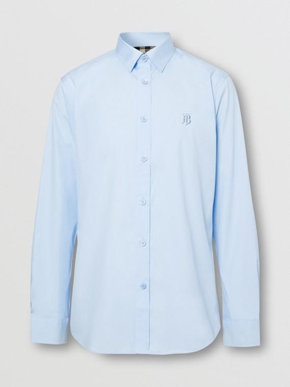 Monogram Motif Cotton Oxford Shirt in White