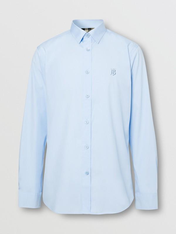 Monogram Motif Cotton Oxford Shirt in White - Men | Burberry - cell image 3