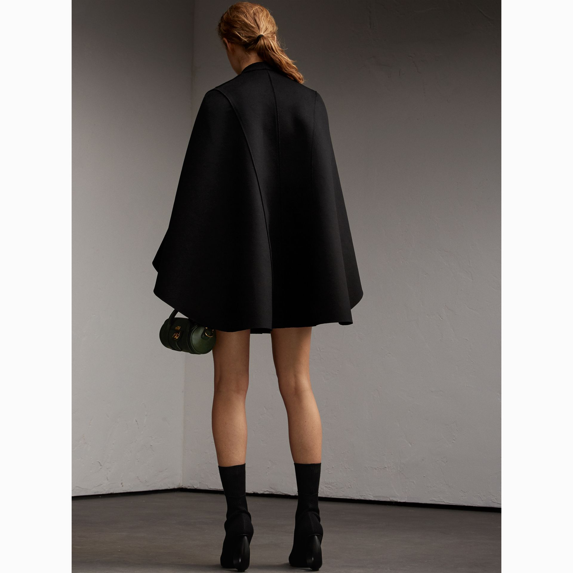 Double-faced Military Wool Cape - gallery image 3