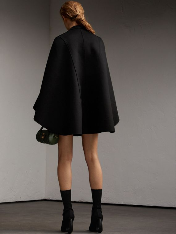 Double-faced Military Wool Cape - Women | Burberry Australia - cell image 2