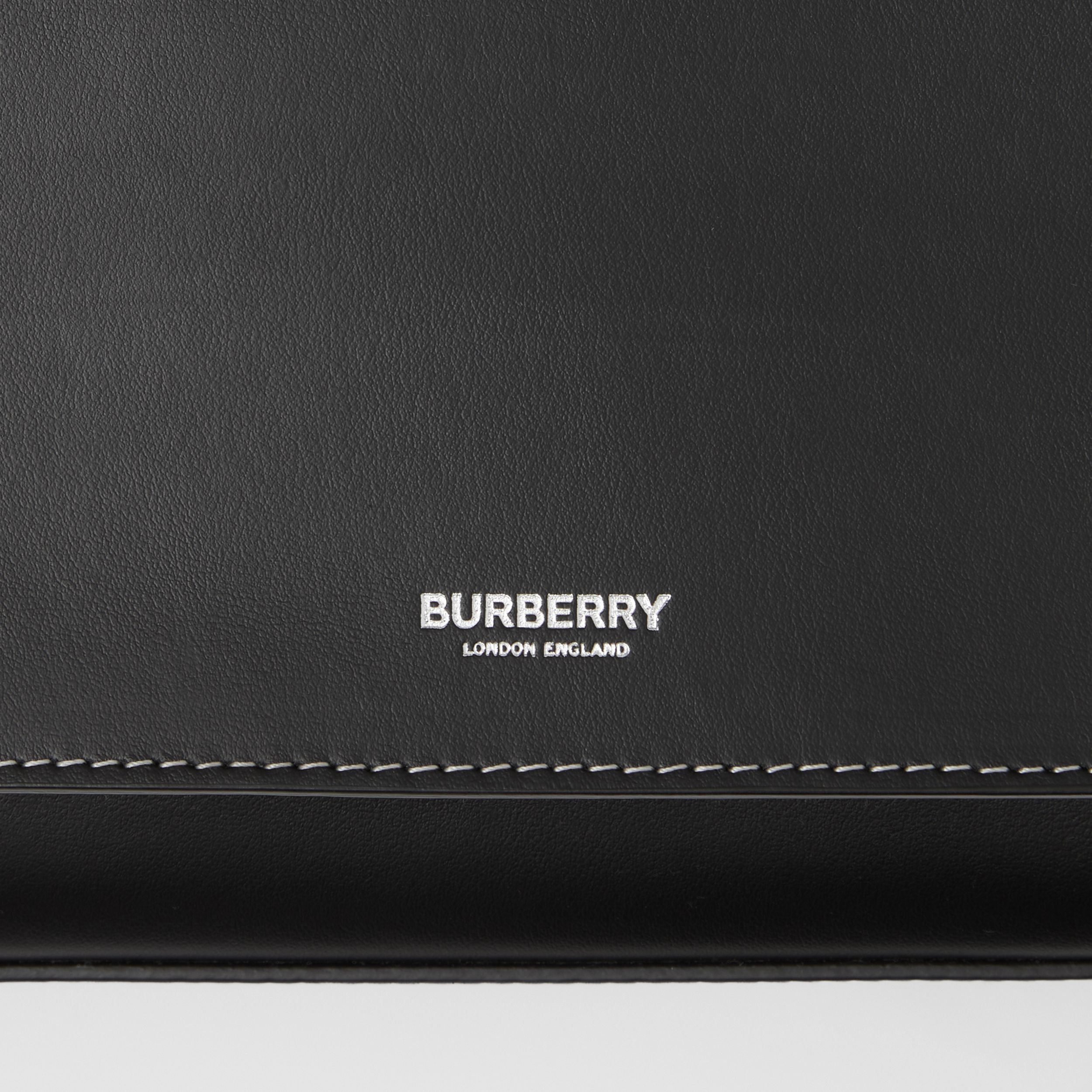Mini Topstitched Leather Pocket Bag in Black - Women | Burberry - 2