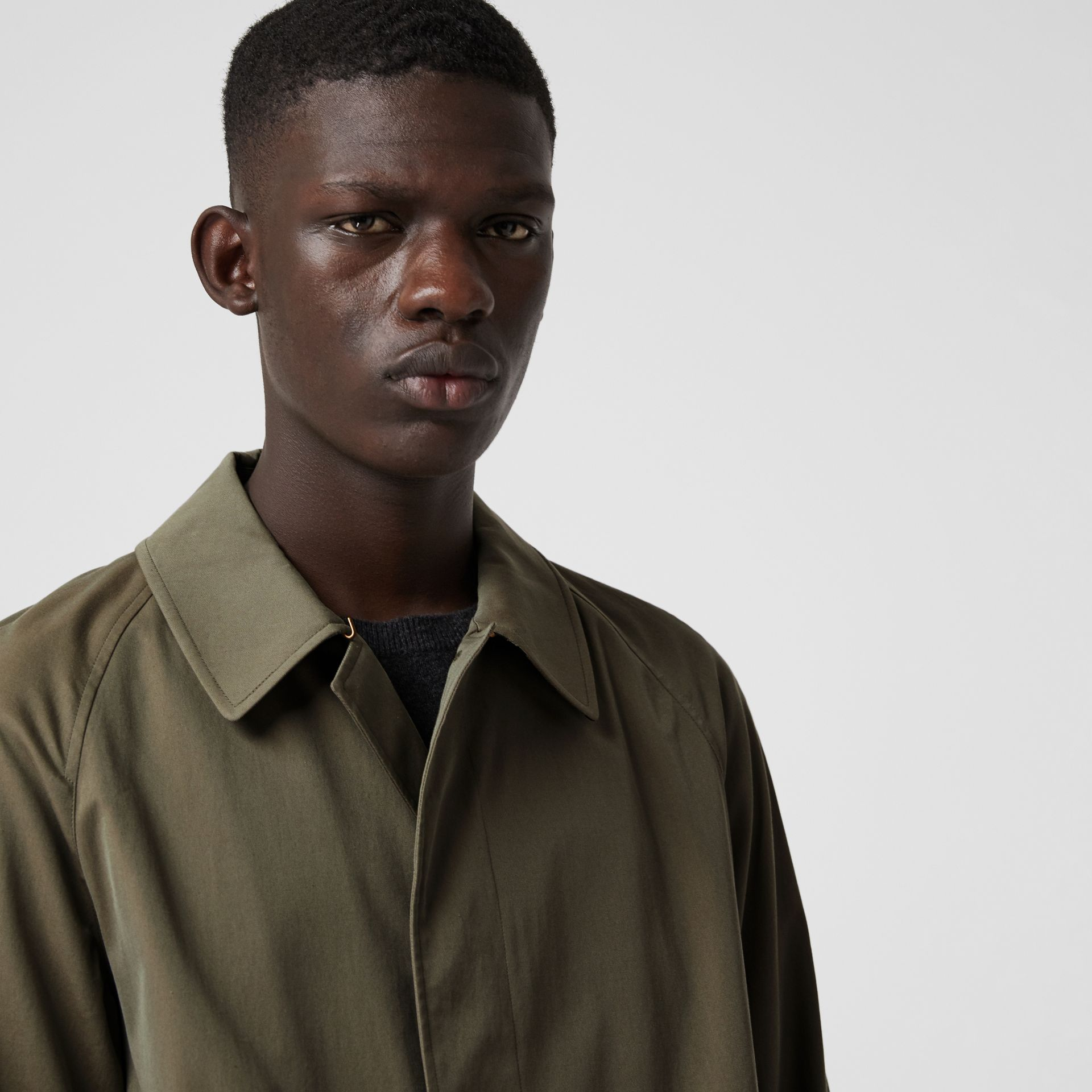 The Brighton Car Coat in Chalk Green - Men | Burberry United Kingdom - gallery image 1