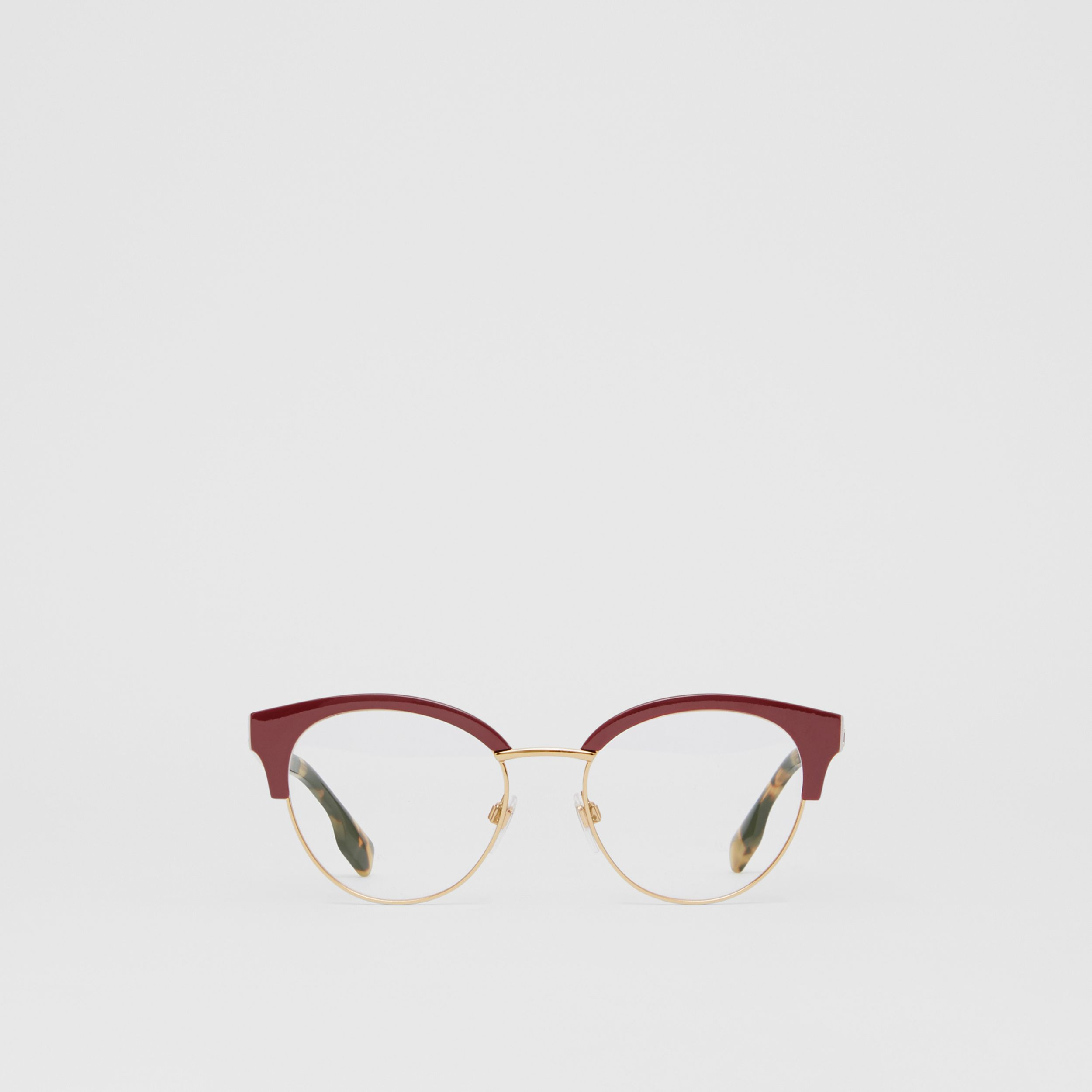 Cat-eye Optical Frames in Burgundy - Women | Burberry - 1