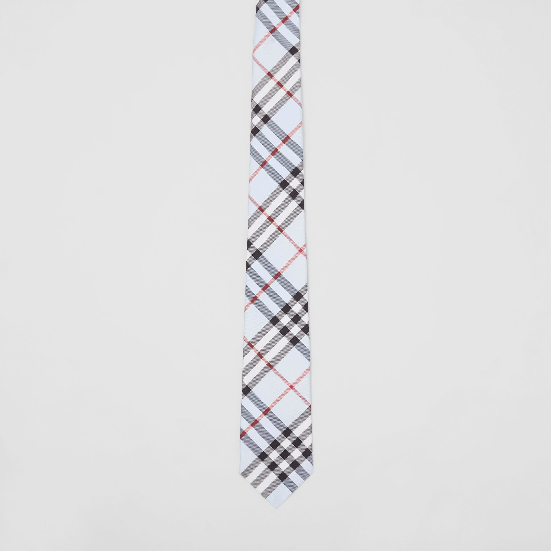 Classic Cut Vintage Check Silk Tie in Pale Blue - Men | Burberry Australia - gallery image 3
