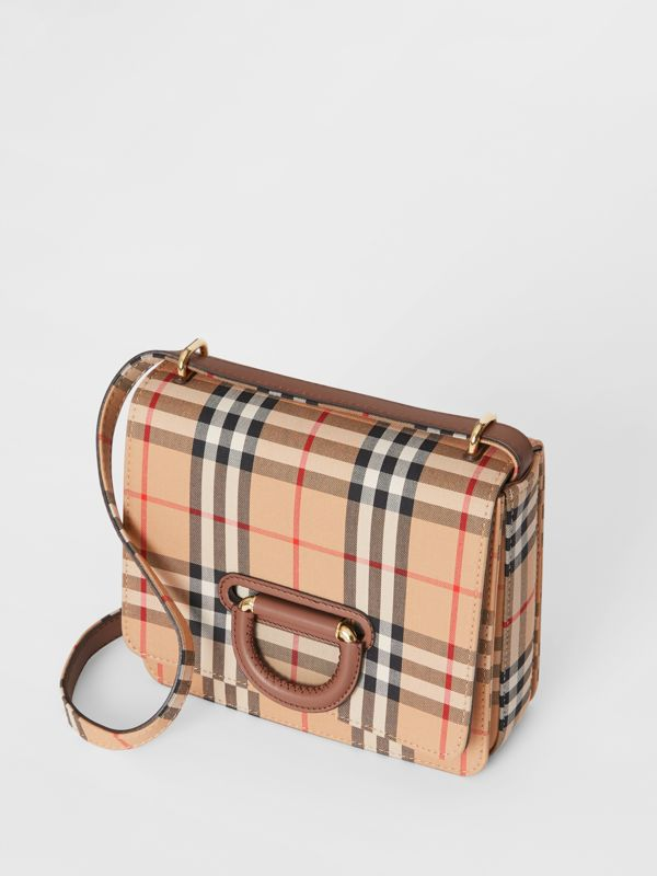 The Small Vintage Check D-ring Bag in Archive Beige - Women | Burberry Australia - cell image 3