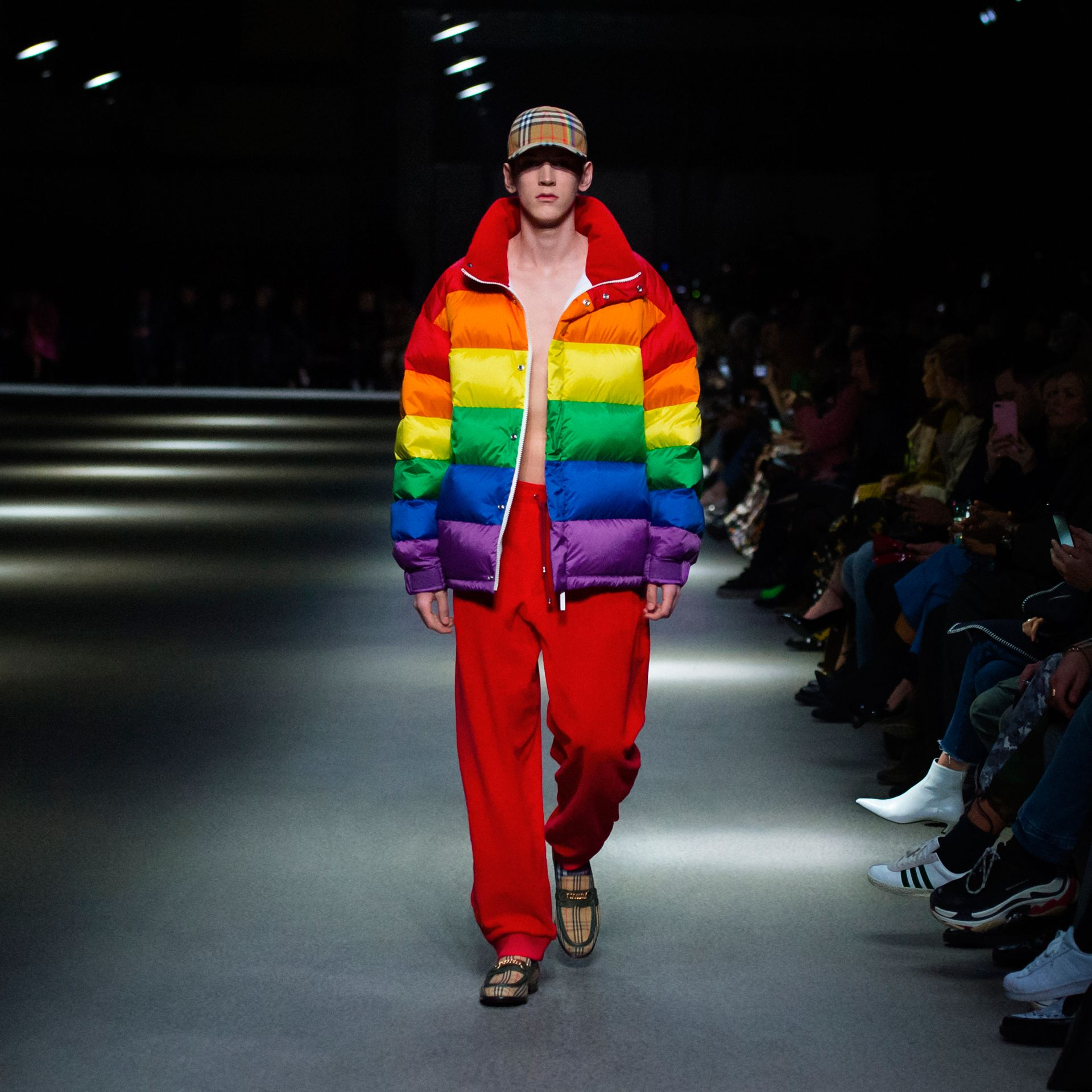 Rainbow Down-filled Puffer Jacket | Burberry - gallery image 4