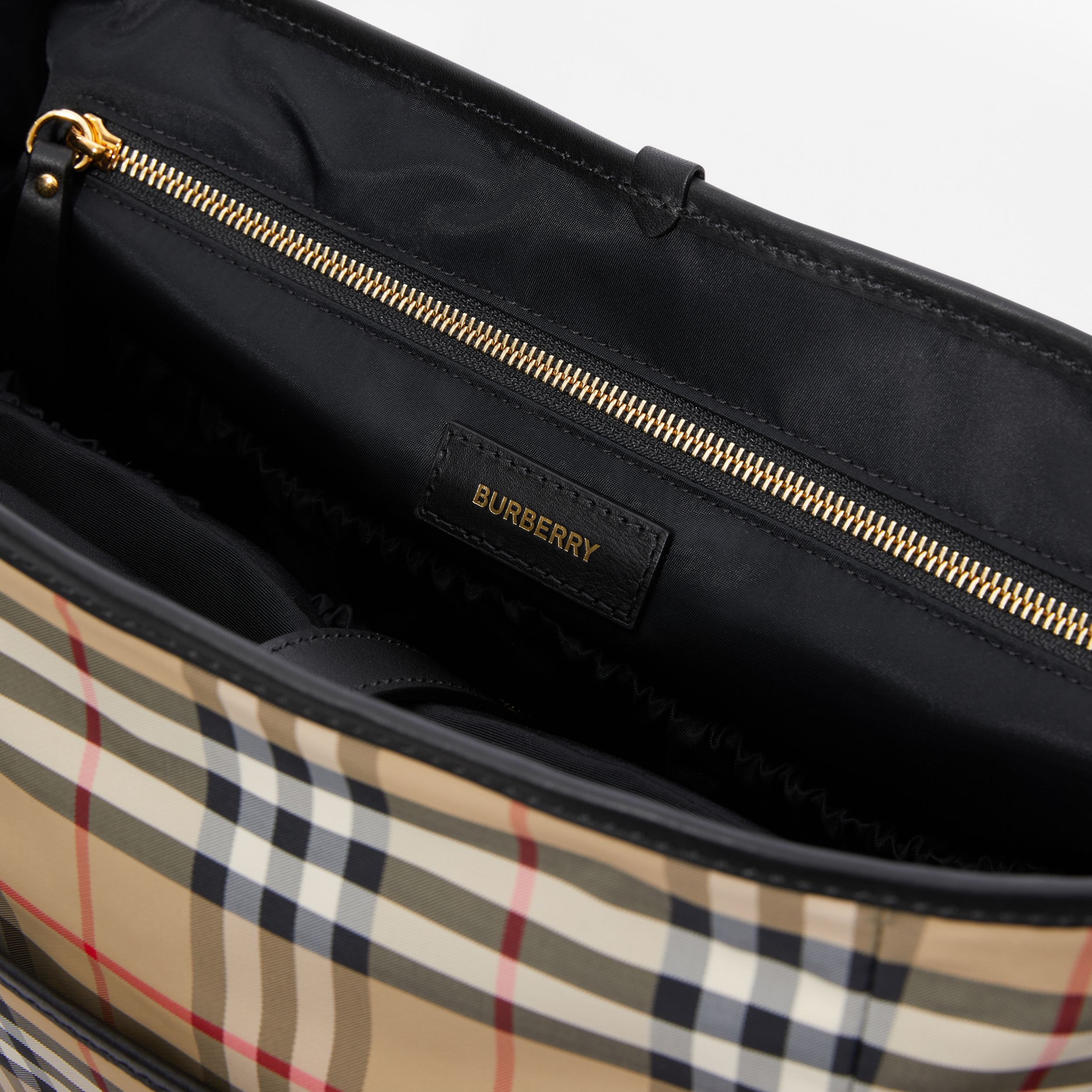 Vintage Check ECONYL® Baby Changing Bag in Archive Beige - Children | Burberry Hong Kong S.A.R. - 4