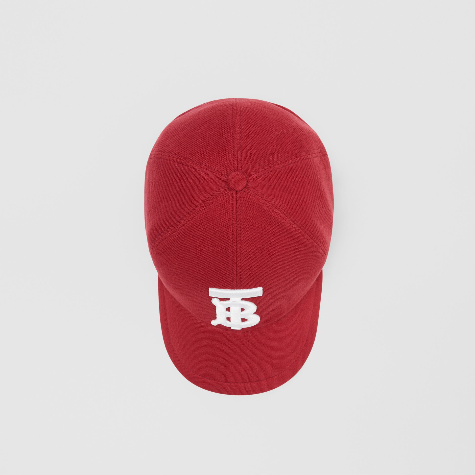 Monogram Motif Jersey Baseball Cap in Dark Carmine | Burberry - gallery image 4