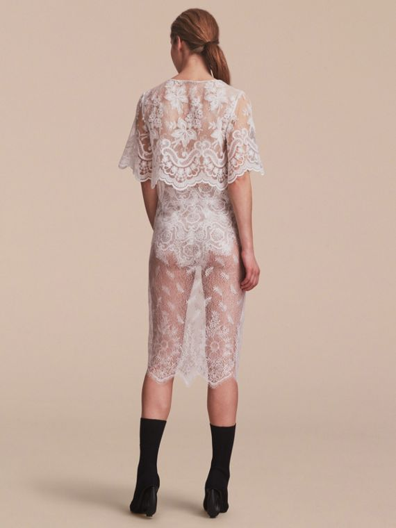 Layered Lace Shift Dress - cell image 2