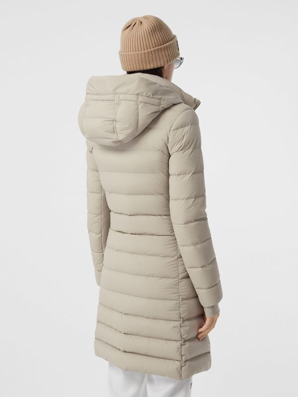 Detachable Faux Fur Trim Hooded Puffer Coat in Neutral Olive - Women | Burberry - cell image 2