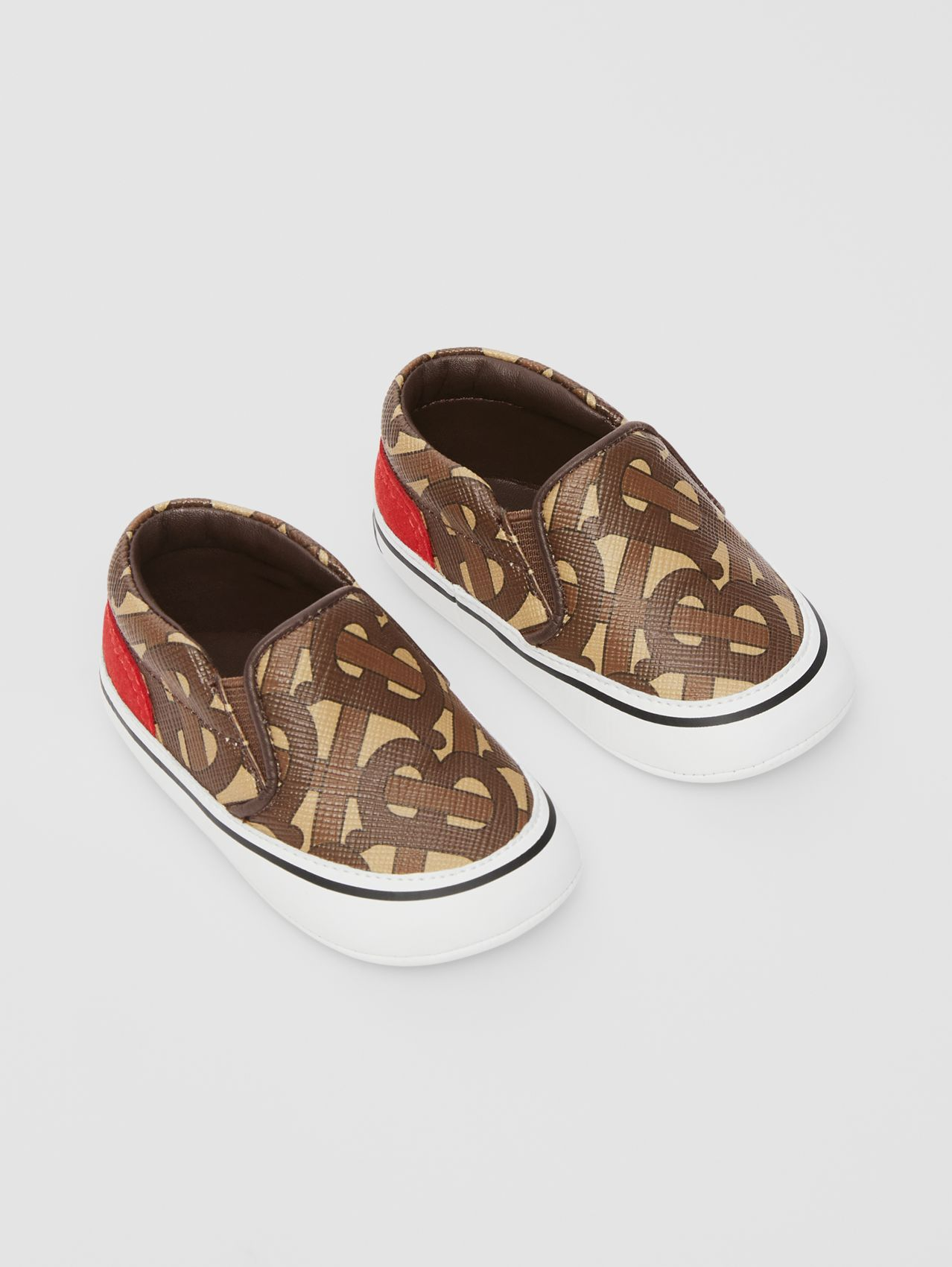 Monogram Print E-canvas Slip-on Shoes in Bridle Brown