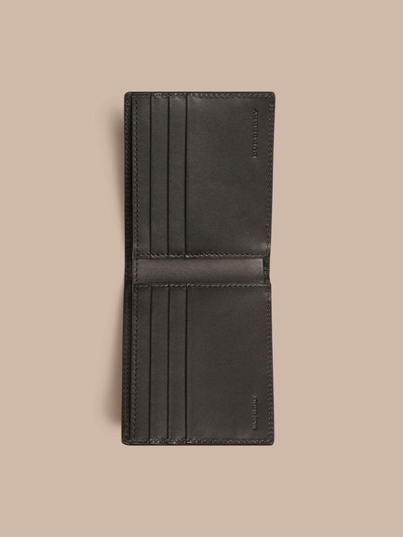 Black London Leather Folding Wallet Black - cell image 3