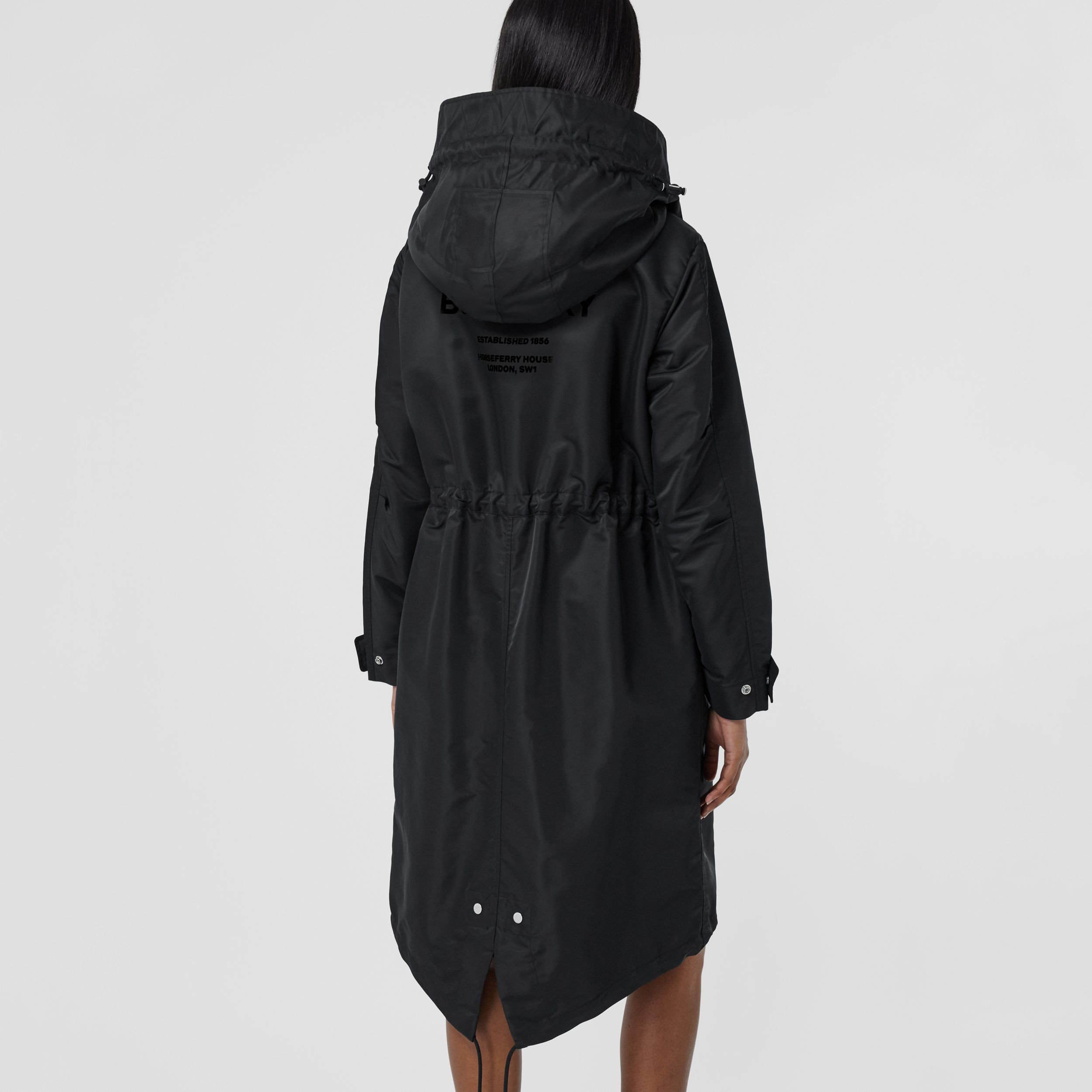 Parka en nylon recyclé Horseferry (Noir) - Femme | Burberry - 3