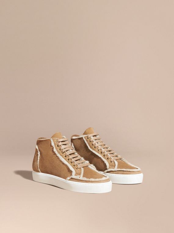 Shearling High-top Trainers