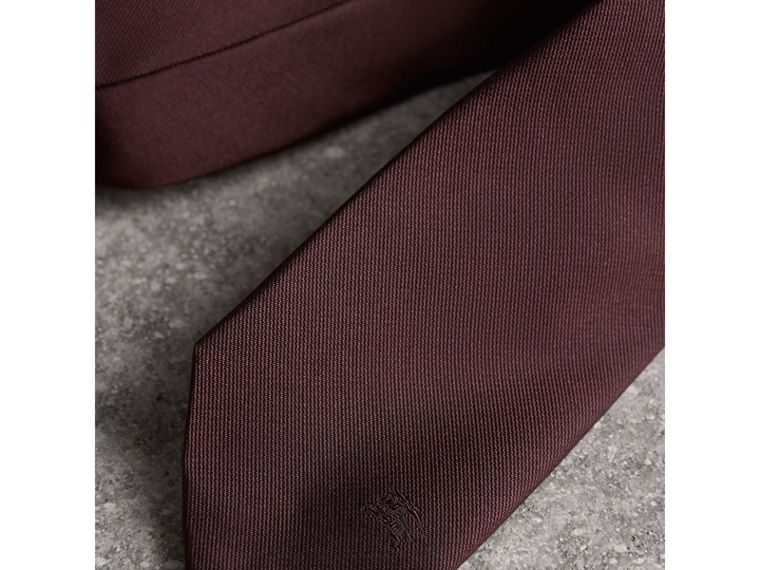 Modern Cut Silk Twill Tie in Deep Claret - Men | Burberry United States - cell image 1