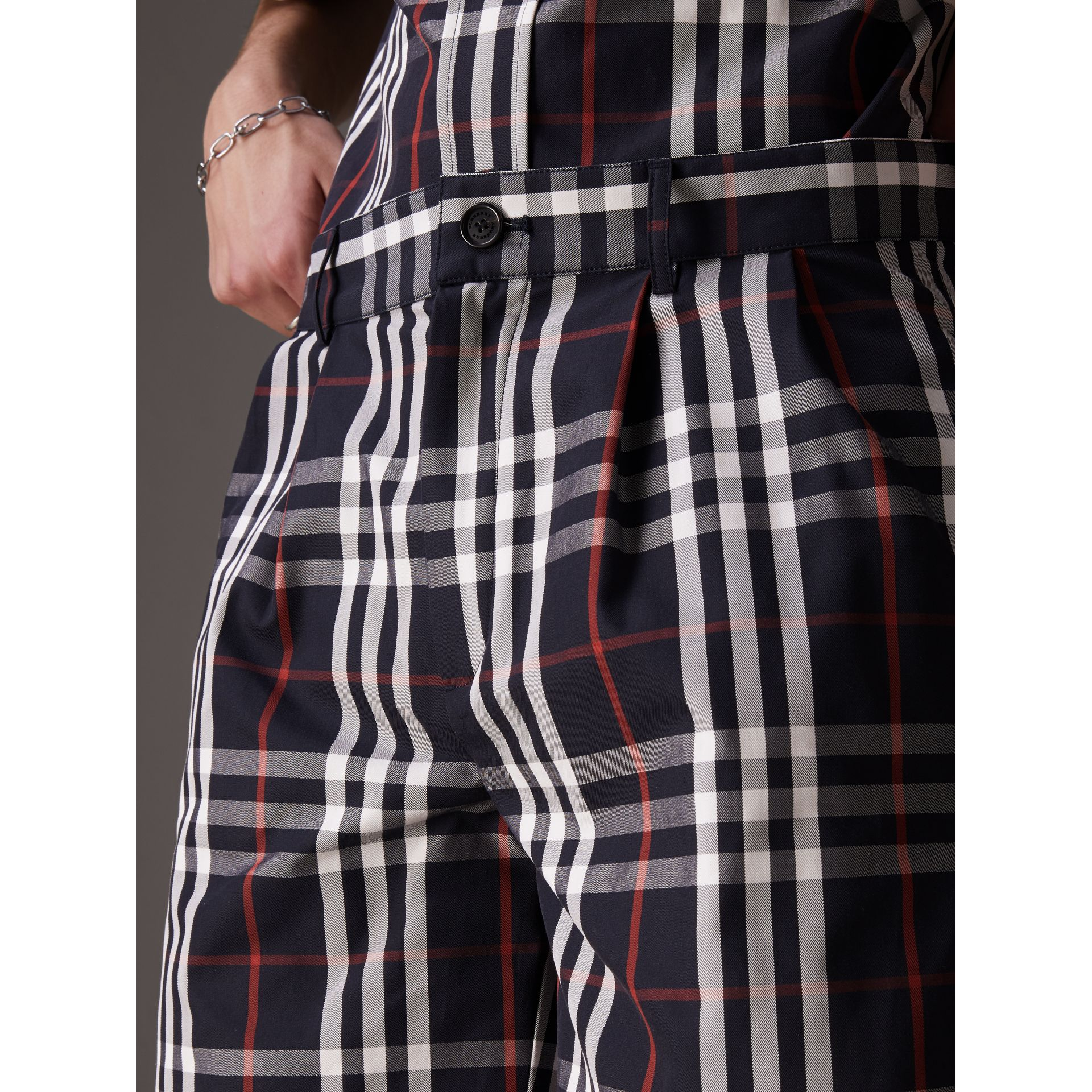 Gosha x Burberry Tailored Shorts in Navy | Burberry - gallery image 1