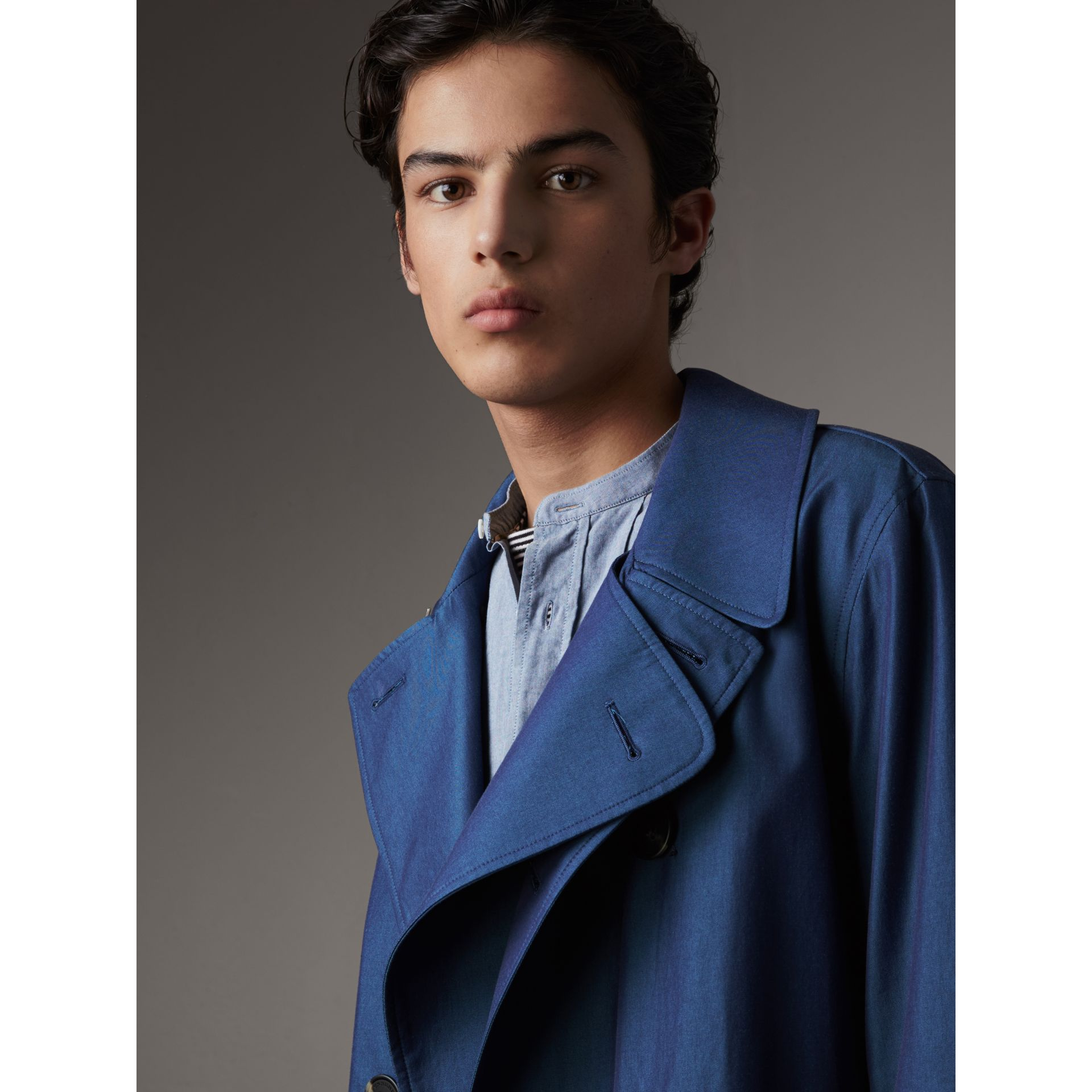 Tropical Gabardine Cotton Trench Coat - Men | Burberry - gallery image 2