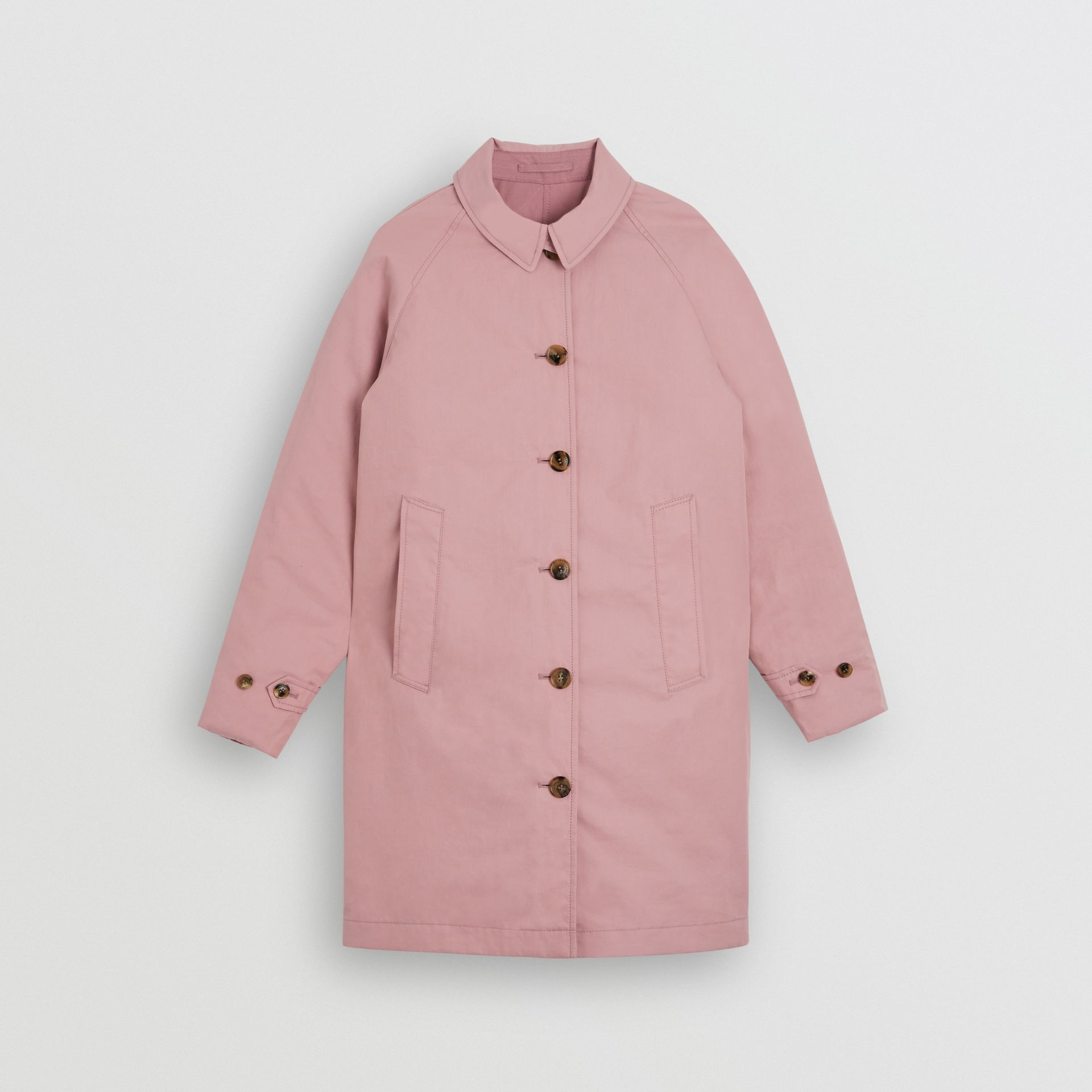 Reversible Tropical Gabardine Car Coat in Chalk Pink | Burberry - gallery image 0