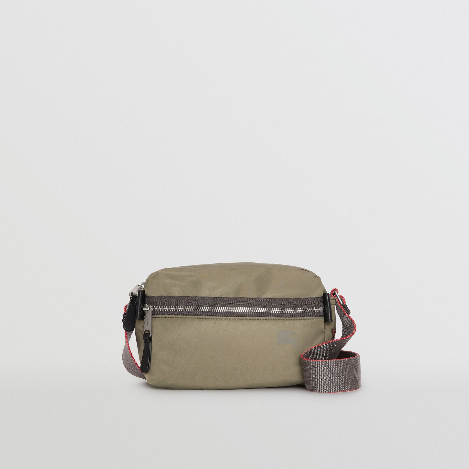 EKD Aviator Nylon and Leather Crossbody Bag in Celadon - Men | Burberry - gallery image 0