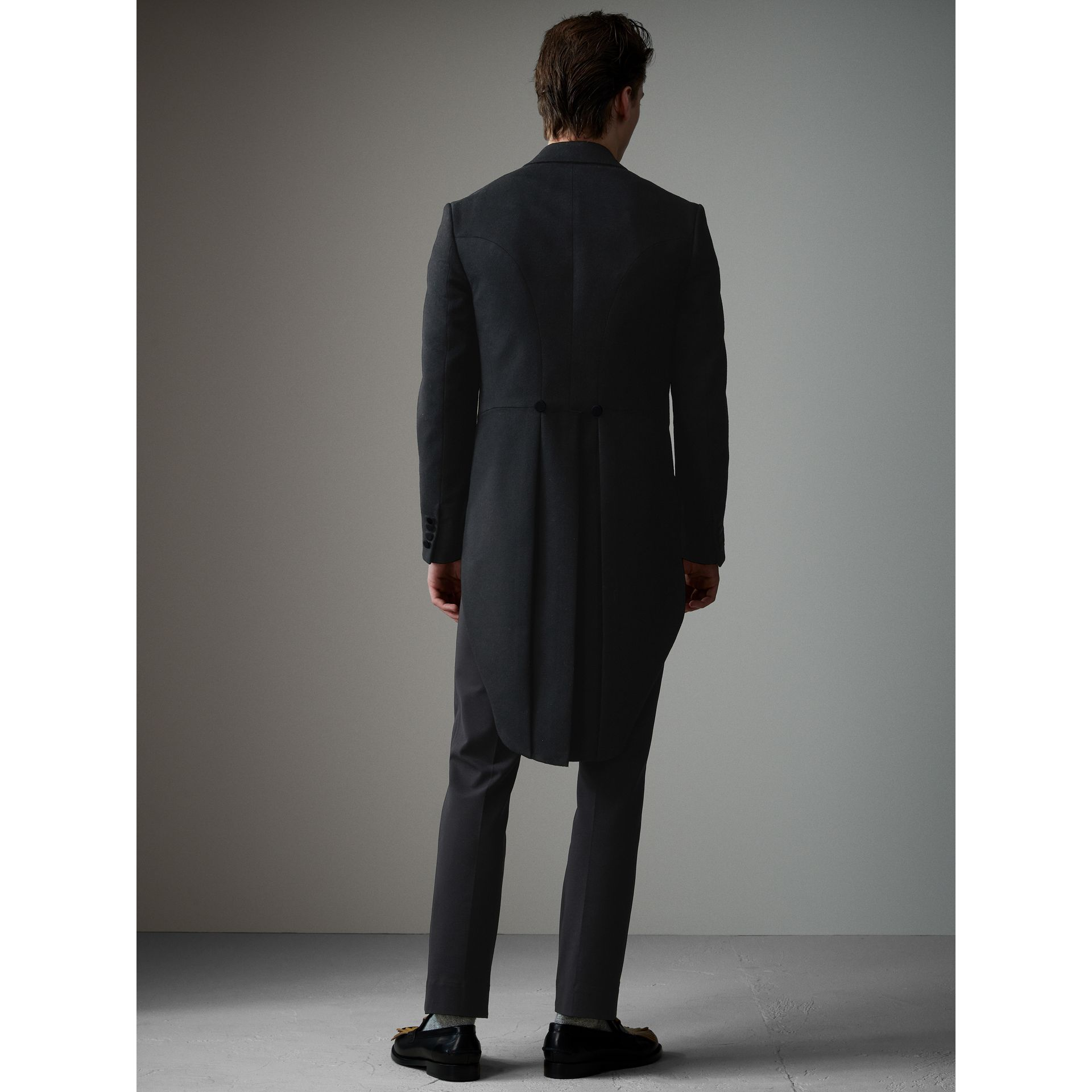 Felted Wool Tailcoat in Black - Men | Burberry - gallery image 3