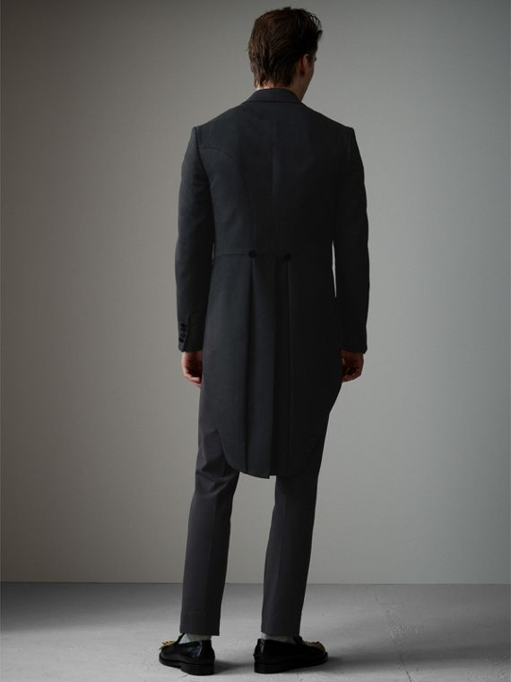Felted Wool Tailcoat in Black - Men | Burberry Hong Kong - cell image 2