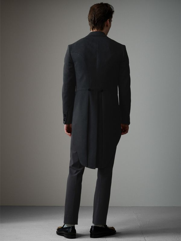 Felted Wool Tailcoat in Black - Men | Burberry United Kingdom - cell image 2