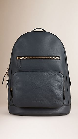 Structured Grainy Leather Backpack