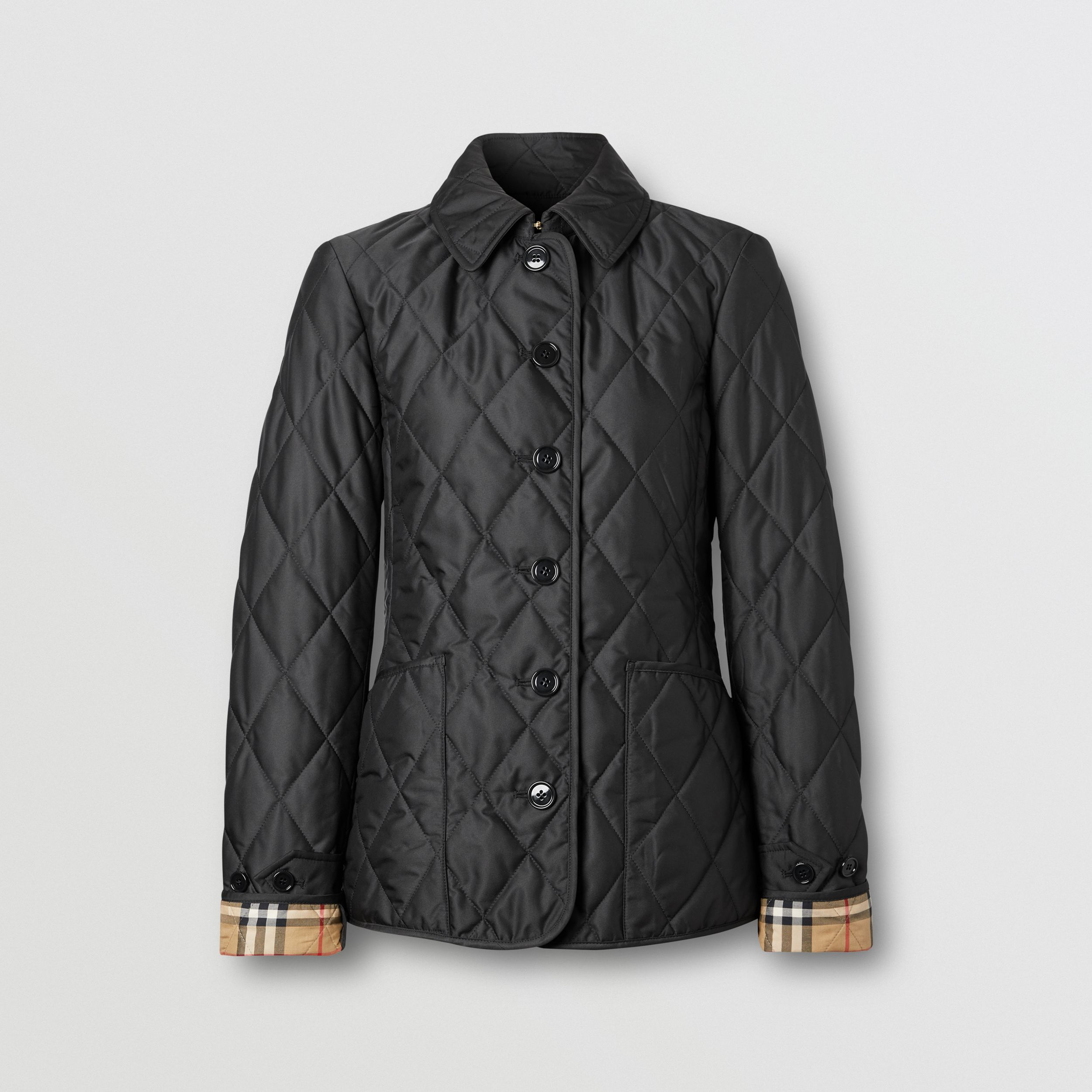 Diamond Quilted Thermoregulated Jacket in Black - Women | Burberry - 4
