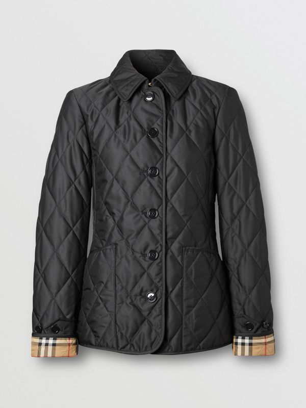 Diamond Quilted Thermoregulated Jacket in Black | Burberry Canada - cell image 3