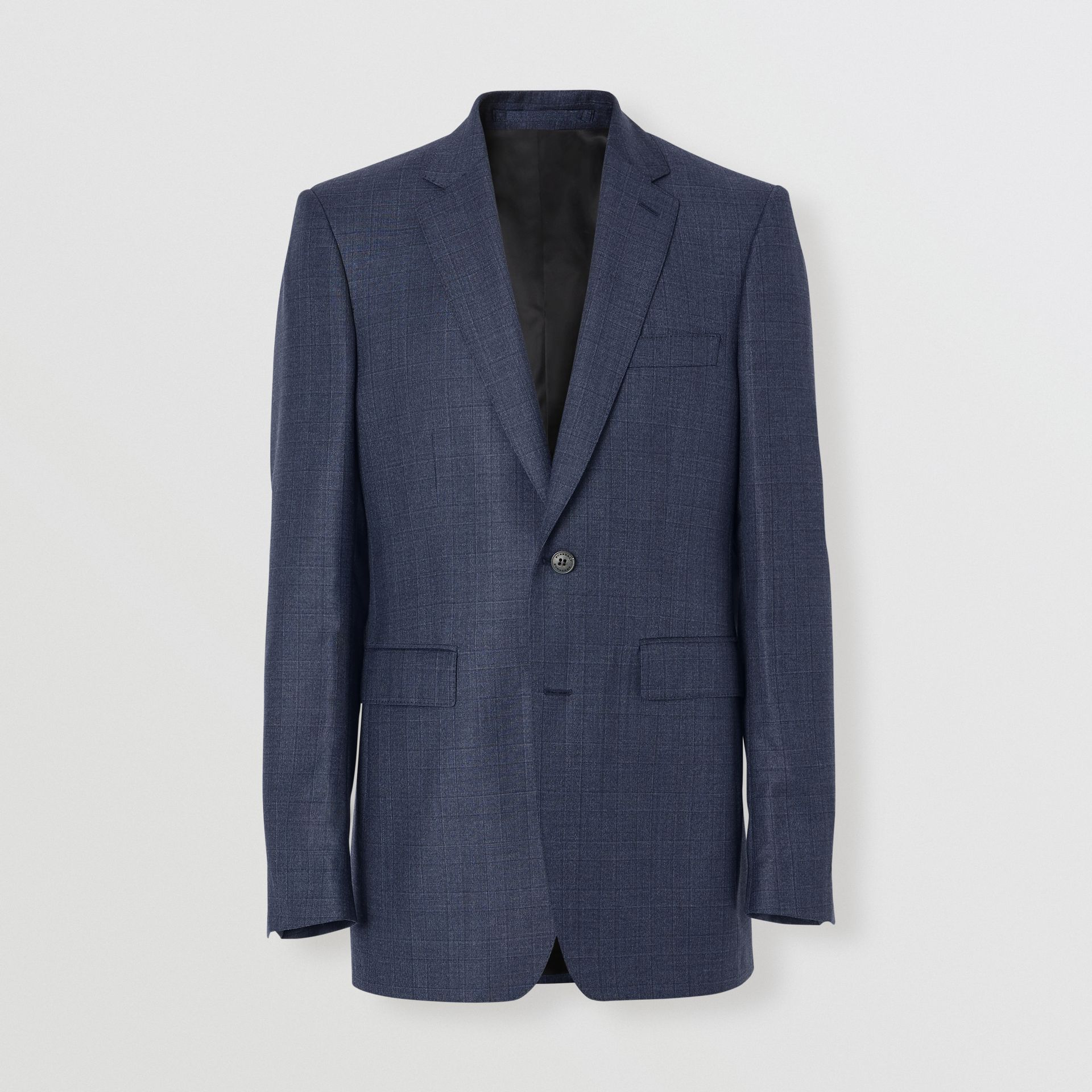 Classic Fit Check Wool Three-piece Suit in Steel Blue - Men | Burberry - gallery image 3
