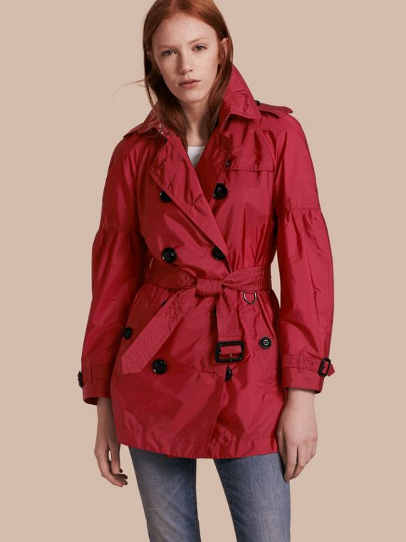 Packaway Trench Coat with Bell Sleeves Parade Red