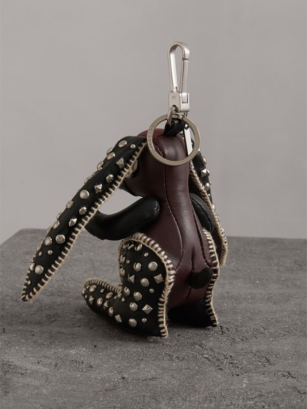 Vera The Hare Leather Charm in Antique Red - Women | Burberry United Kingdom - cell image 3
