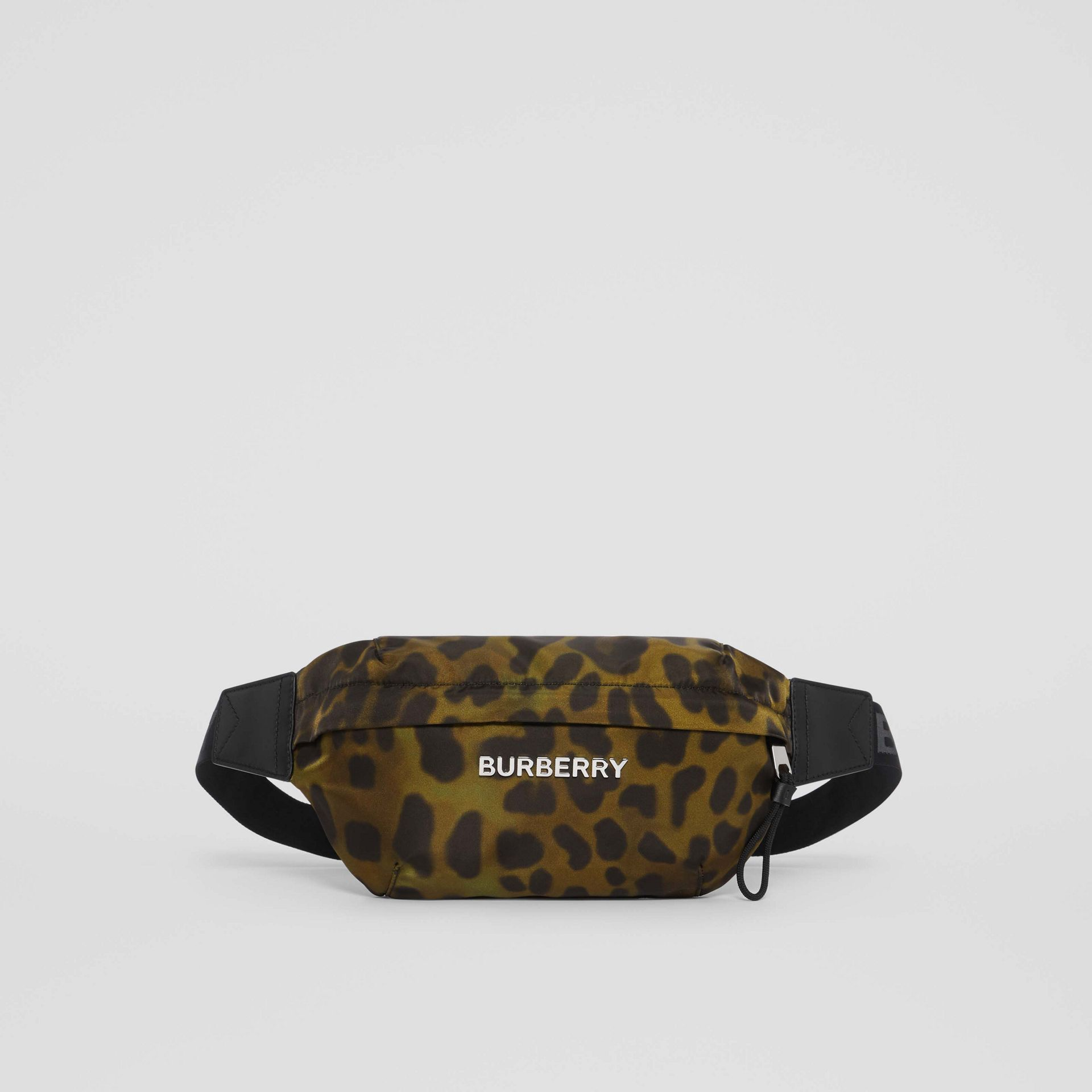 Medium Animal Print Bum Bag in Khaki Green - Men | Burberry - gallery image 0