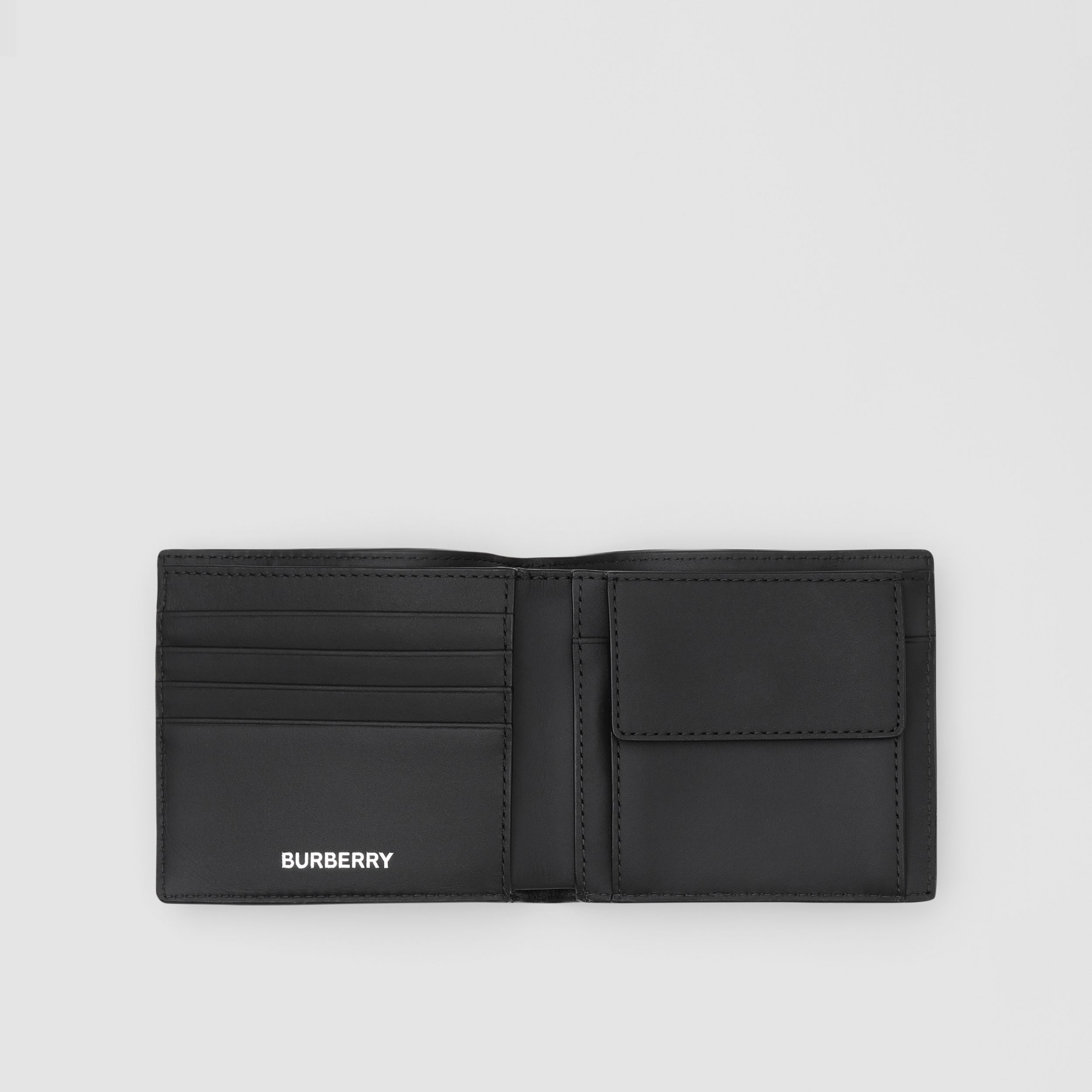 Logo Graphic International Bifold Coin Wallet in Dark Charcoal - Men | Burberry - 3