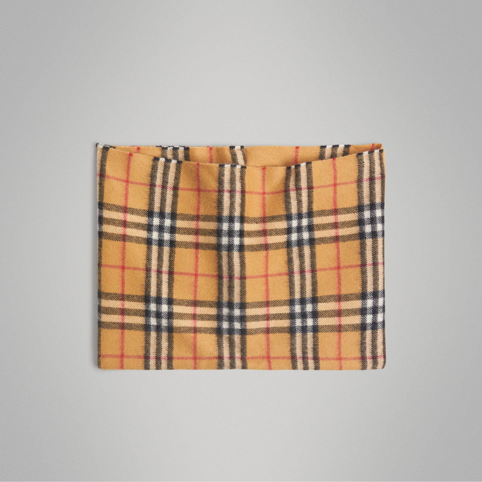 Vintage Check Cashmere Snood in Antique Yellow | Burberry Australia - gallery image 0