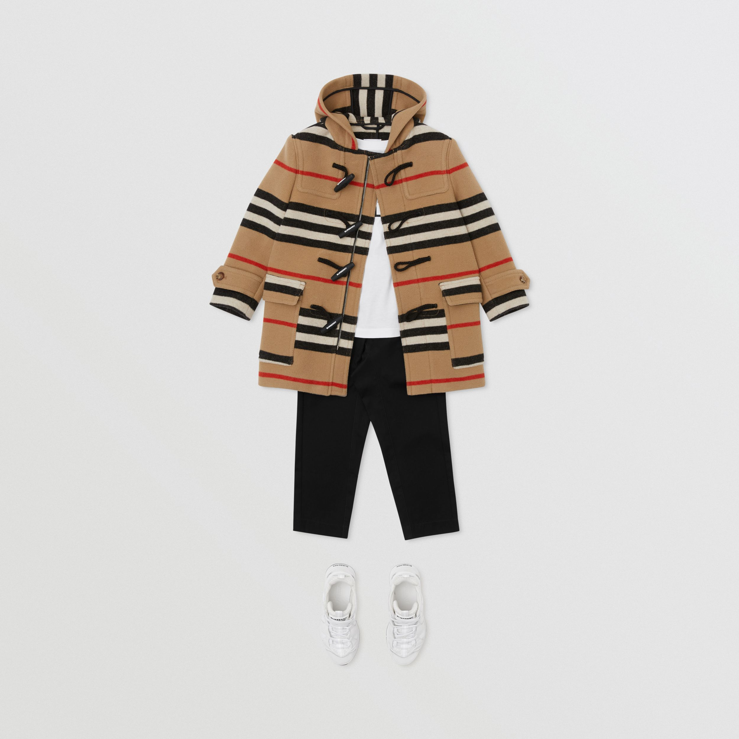 Duffle-coat en laine double face à rayures iconiques | Burberry Canada - 4