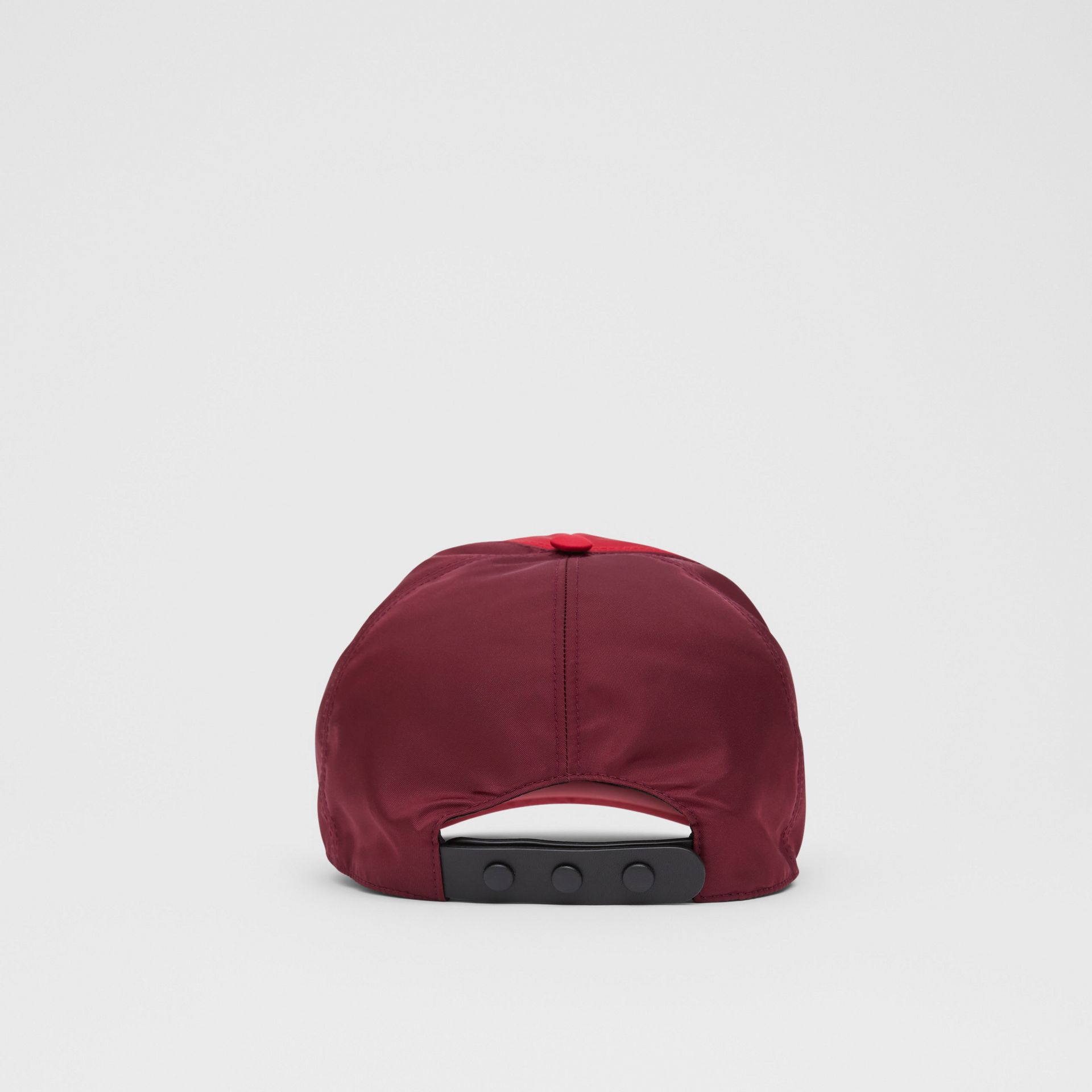 Monogram Motif Two-tone Baseball Cap in Bright Red | Burberry - gallery image 6