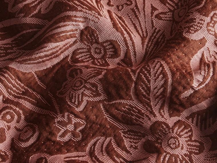 Granata Pullover in misto cotone e lana con motivo floreale in jacquard - cell image 1