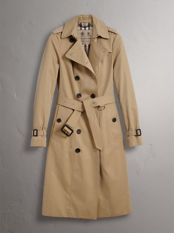 The Sandringham – Extra-long Heritage Trench Coat in Honey - Women | Burberry Hong Kong - cell image 3