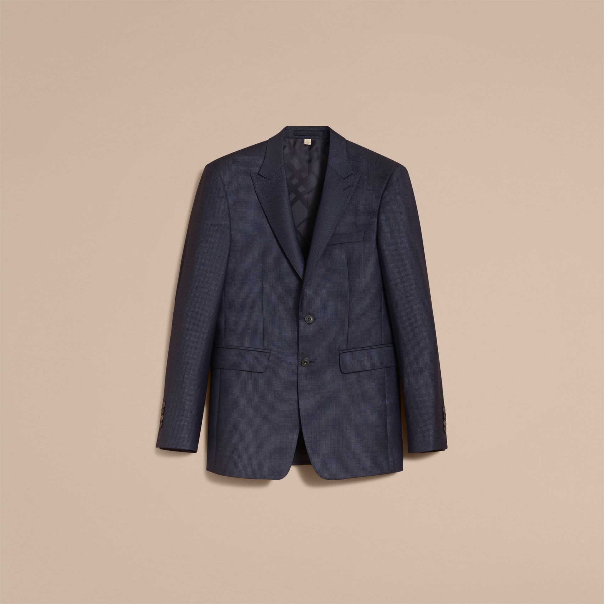 Modern Fit Wool Silk Part-canvas Suit - Men | Burberry - gallery image 4
