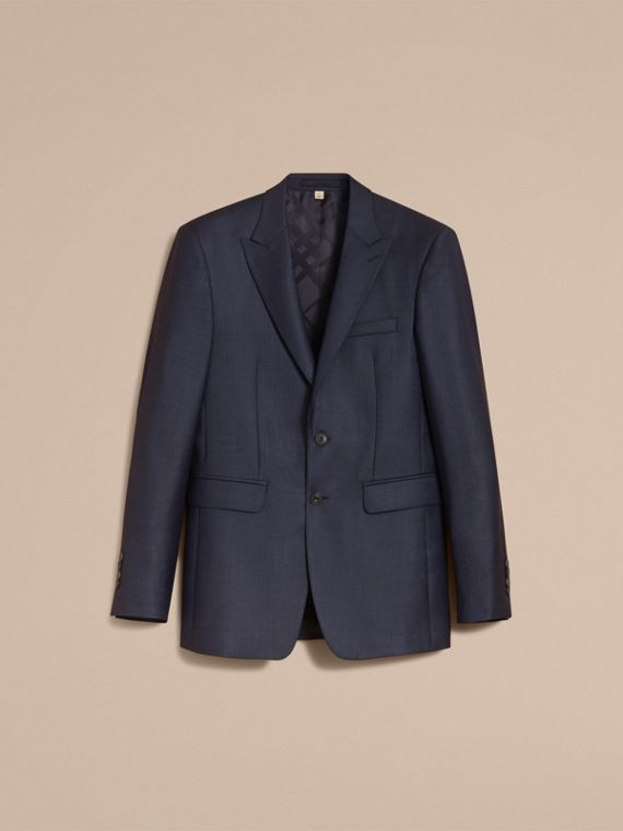 Modern Fit Wool Silk Part-canvas Suit - Men | Burberry - cell image 3