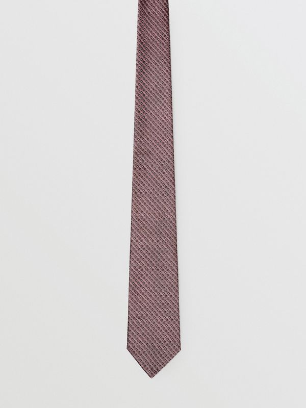 Classic Cut Micro Dot Silk Jacquard Tie in Garnet Pink - Men | Burberry United Kingdom - cell image 3