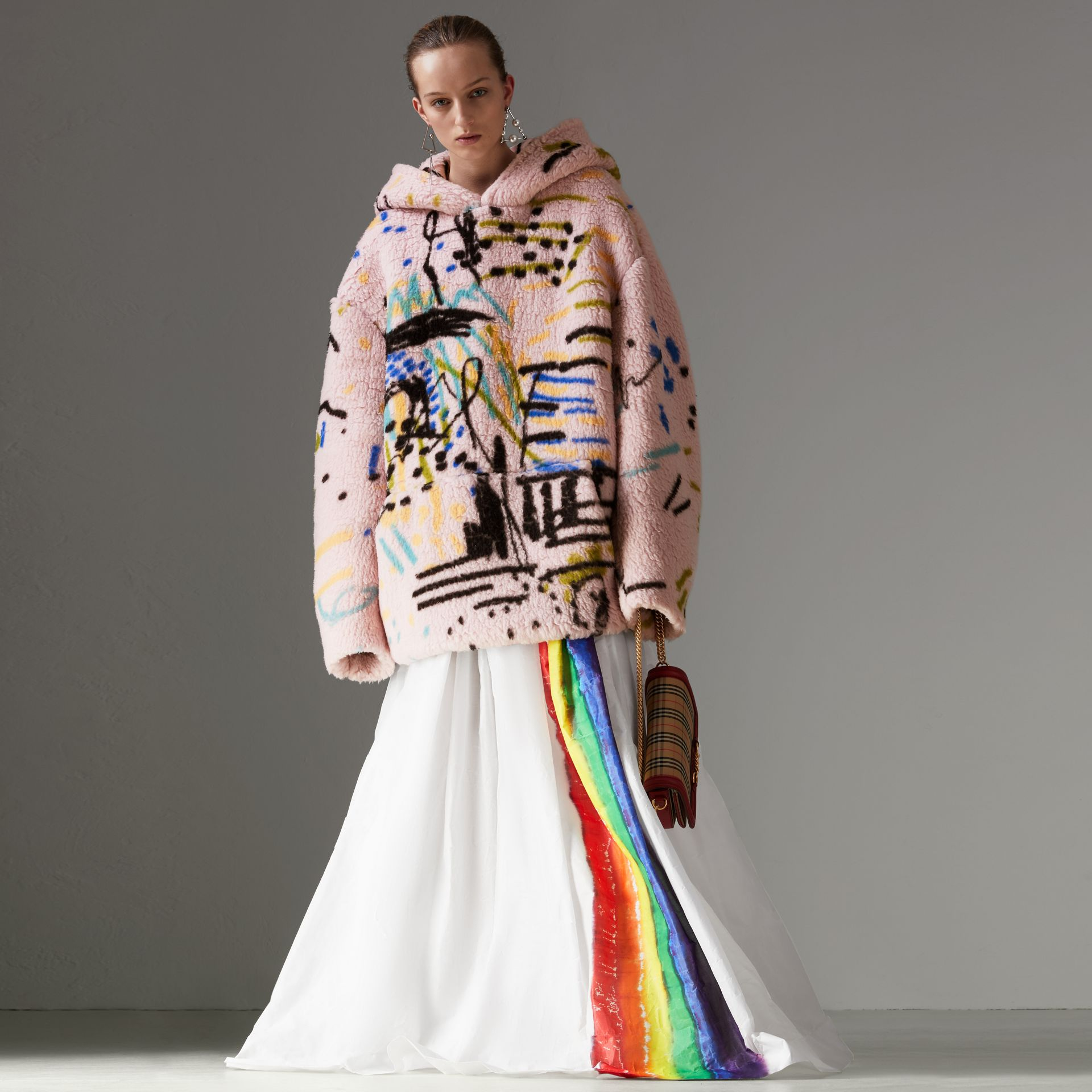 Rainbow Stripe Maxi Skirt - Women | Burberry - gallery image 0