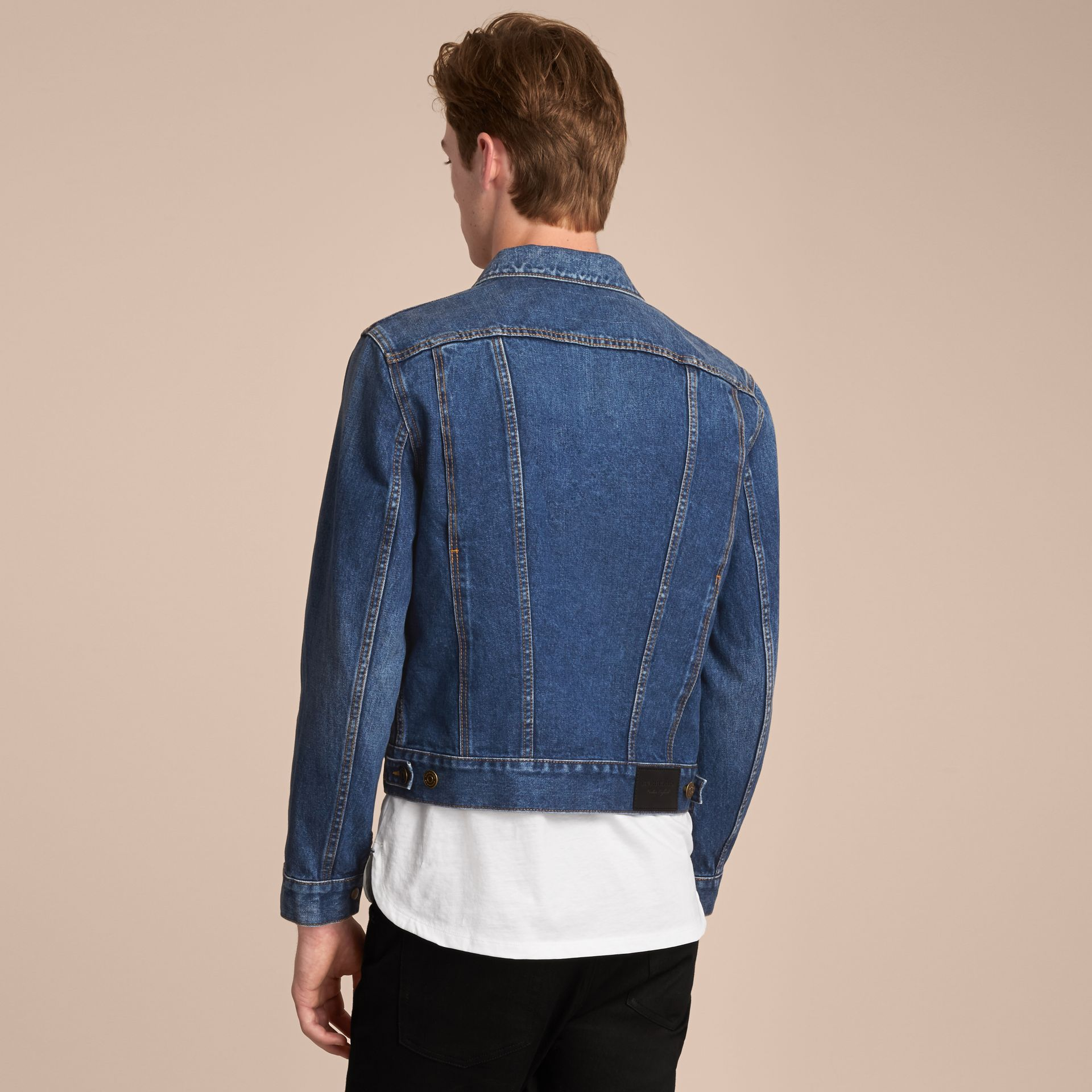Zip-front Cropped Denim Jacket - gallery image 3