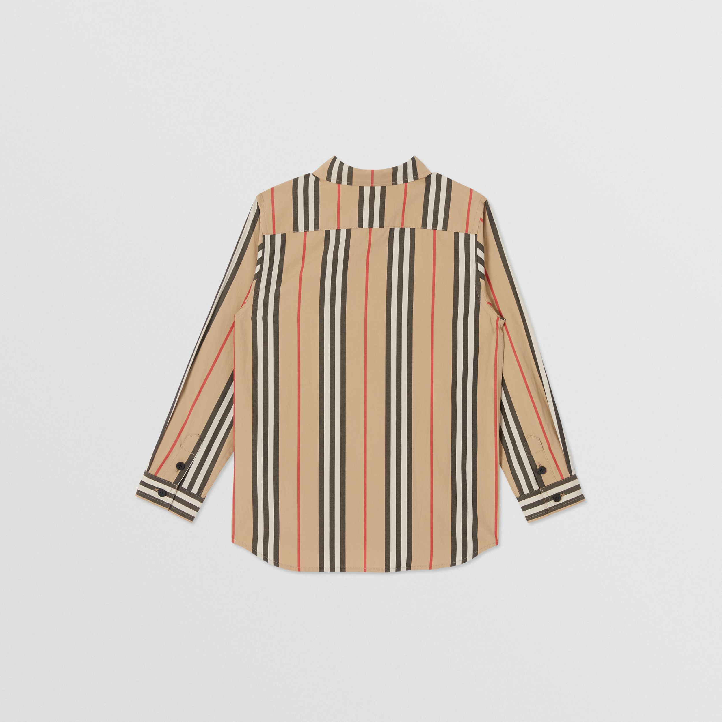 Icon Stripe Cotton Poplin Shirt in Archive Beige | Burberry - 4