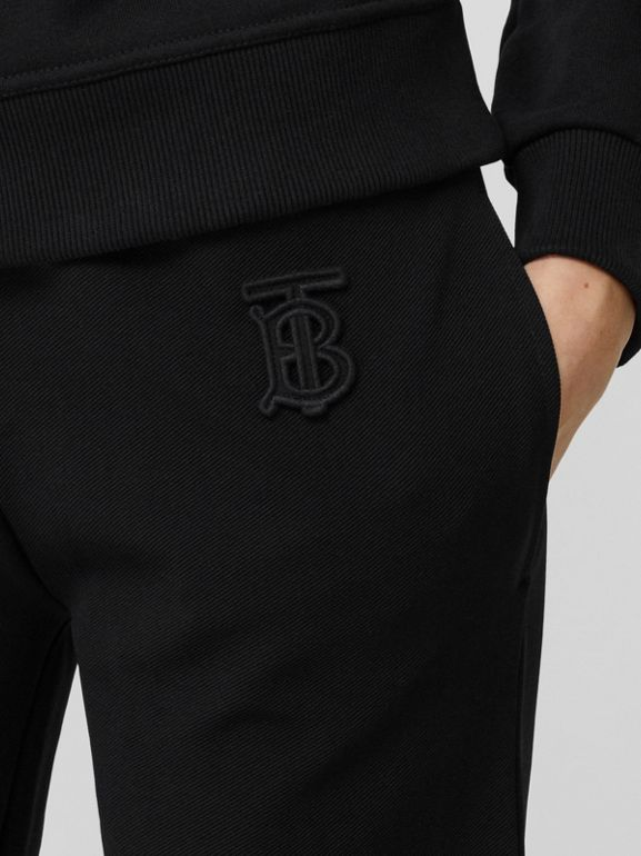 Monogram Motif Technical Trackpants in Black - Women | Burberry - cell image 1