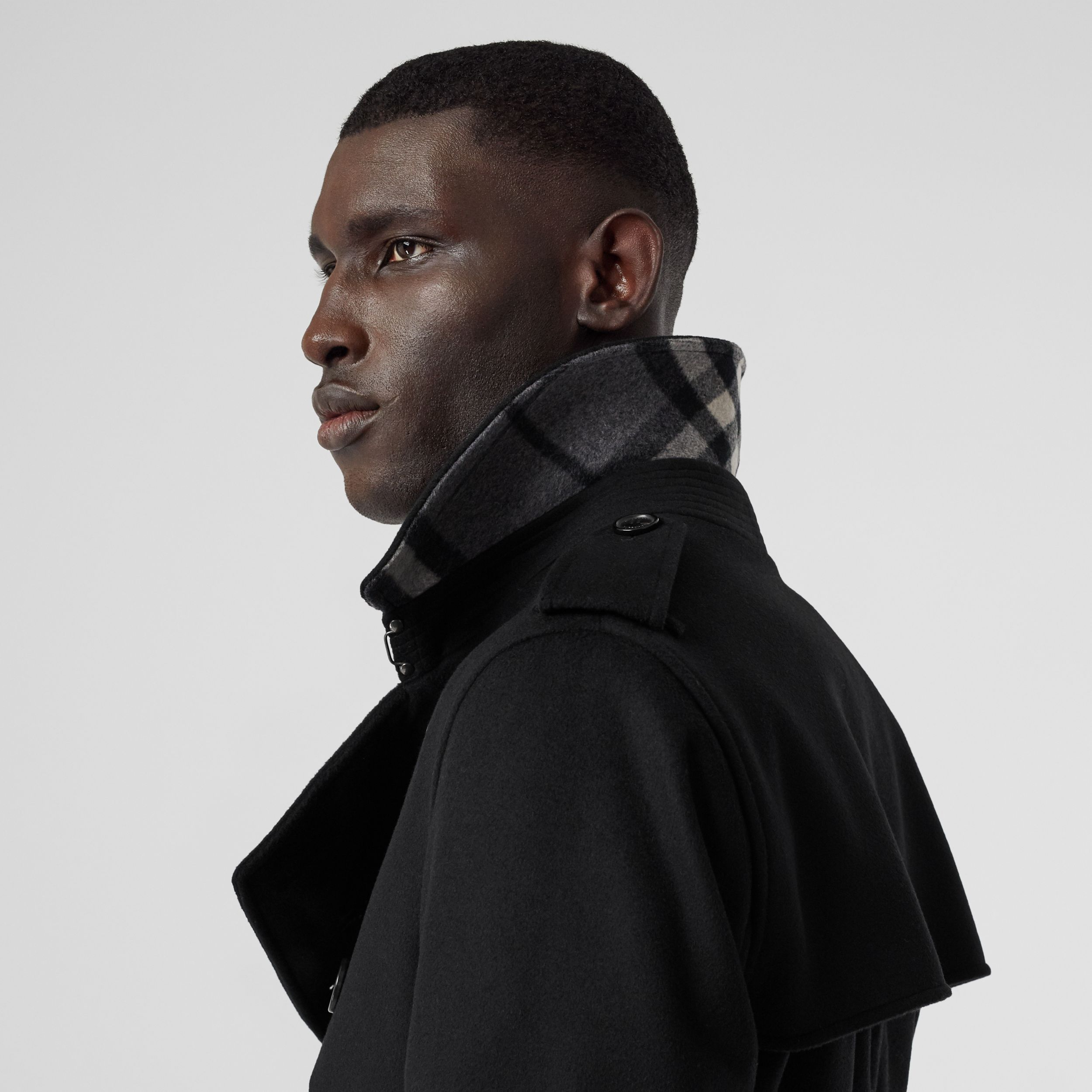 Wool Cashmere Trench Coat in Black - Men | Burberry Canada - 2