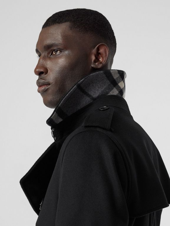 Wool Cashmere Trench Coat in Black - Men | Burberry - cell image 1